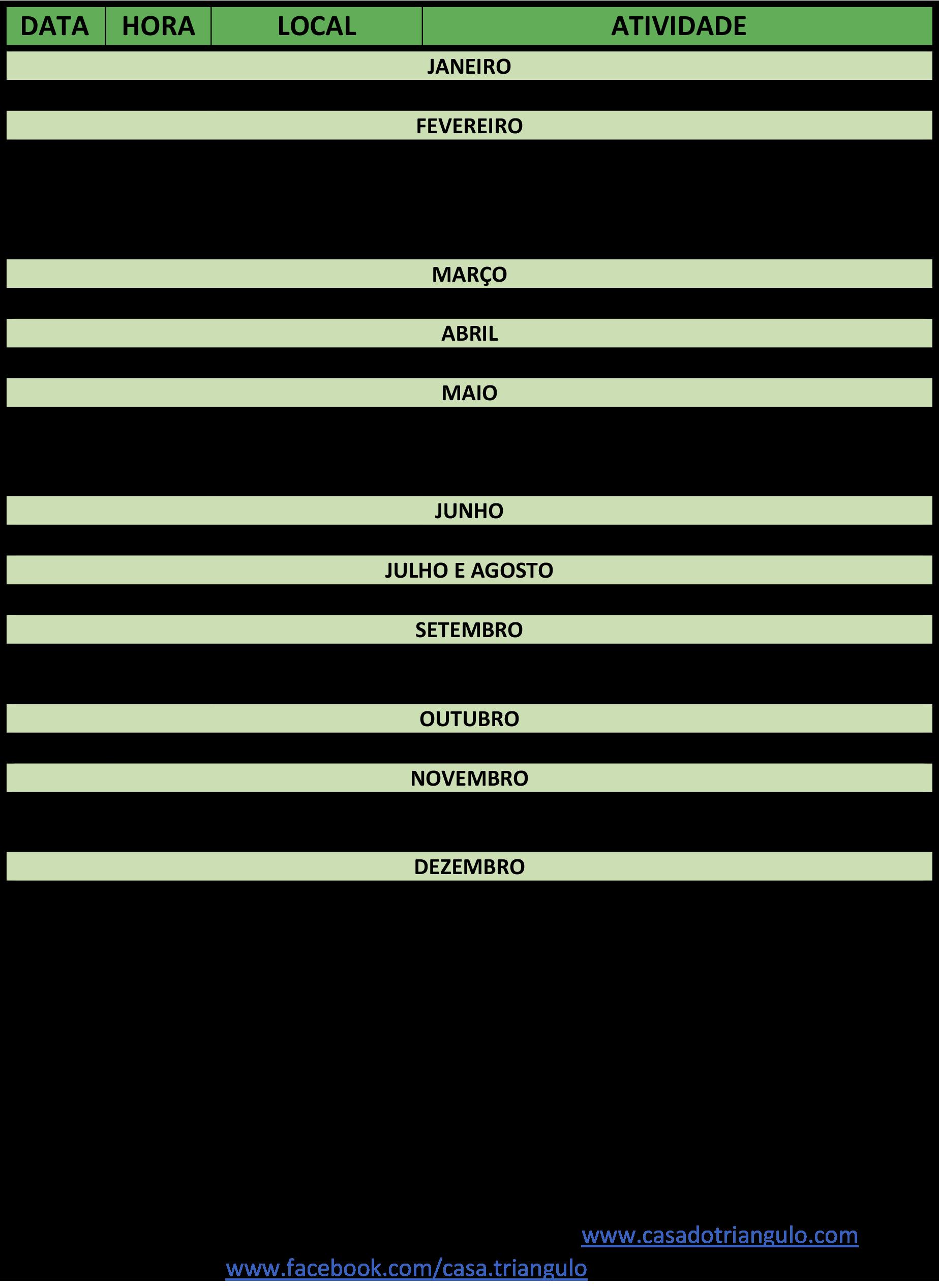 5050ed79a4 Cronograma - Plano de Atividades 2017 CT (versao2) - Casa do Triângulo