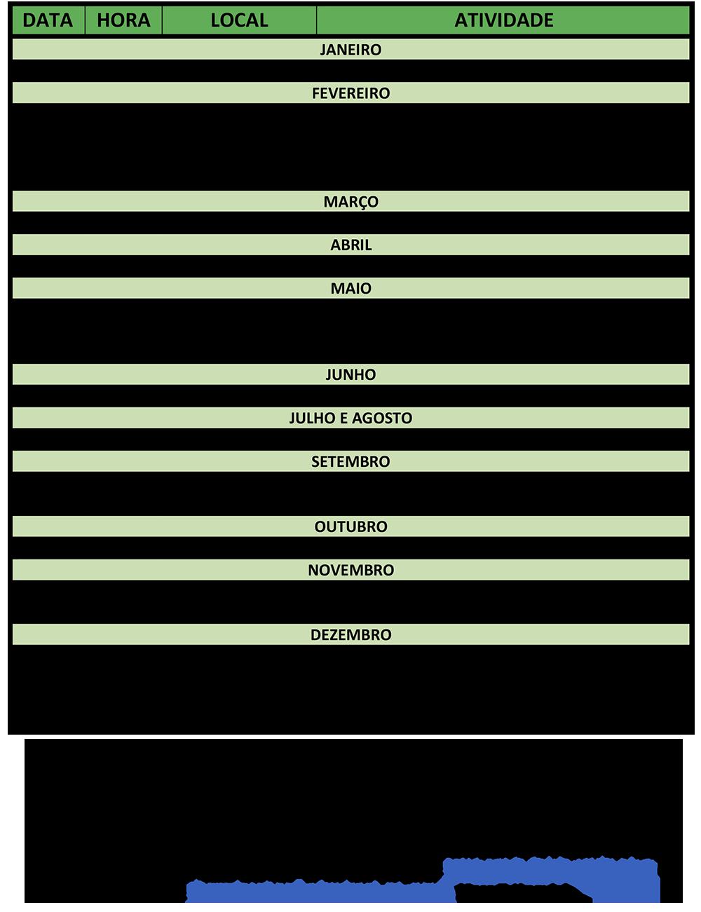 Cronograma - Plano de Atividades 2017 CT